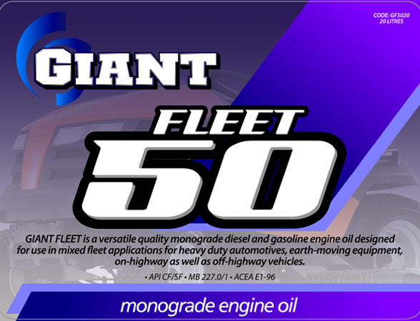GIANT FLEET 50 – Available sizes: 20L