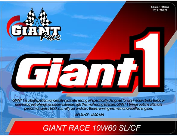GIANT 1 10W60 – Available sizes: 5L, 20L