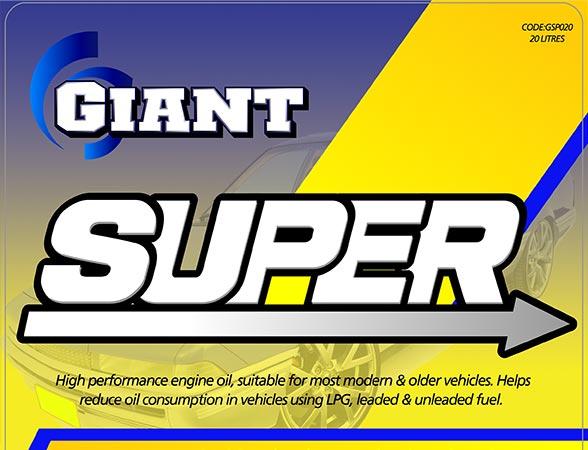 GIANT SUPER 20W50 – Available sizes: 1L, 5L, 20L, 200L