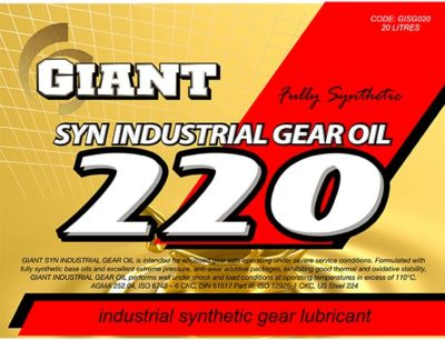 Giant Syn Industrial Gear Oil 220