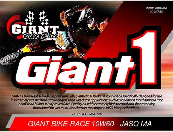 GIANT 1 BIKE-RACE 10W60 – Available sizes: 5L, 20L