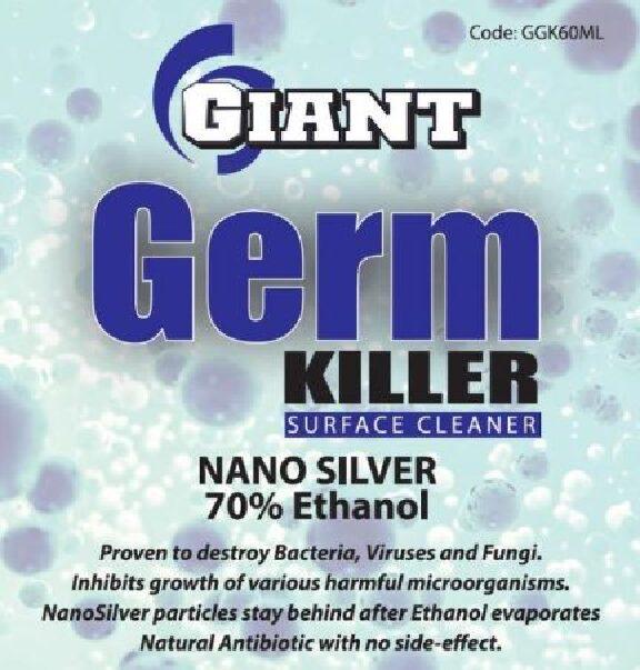 GIANT GERM KILLER – Available sizes: 60ml, 500ml